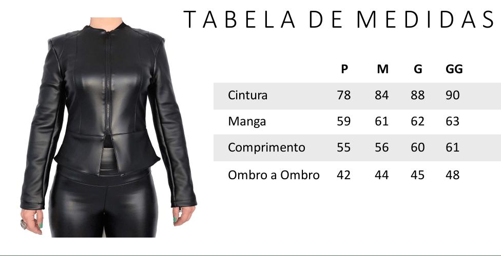 Jaqueta Feminina de Couro Preta