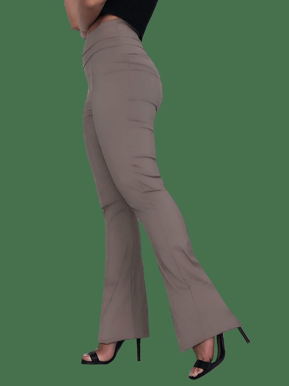 Calça FLARE Cintura Alta ARGILA em Bengaline