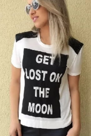 T-Shirt Feminina Estilosa Branca