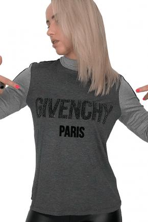 T-Shirt Feminina Manga Longa Givenchy Inspired