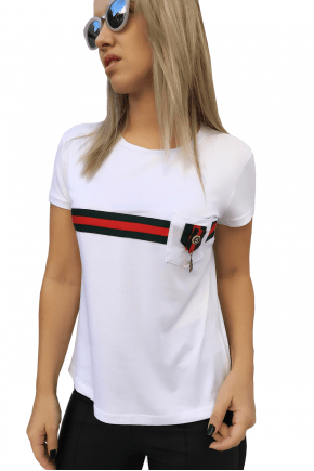 T-Shirt Gucci Inspired Branca