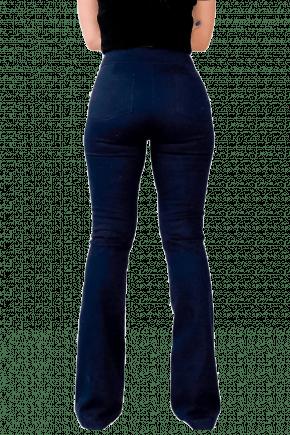 Calça FLARE com BOLSO Azul Marinho