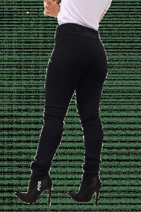 Calça Skinny Preta em Camurça