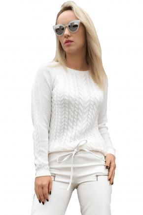 Blusa de Trico Feminina Branca