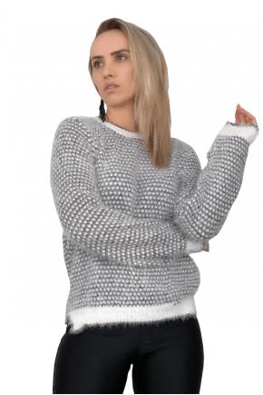Blusa de Trico Feminina Cinza